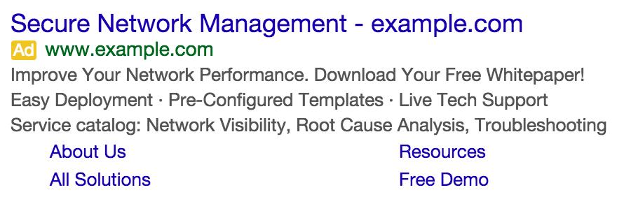 انواع افزونه گوگل ادزـ افزونه Sitelink